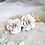 Thumbnail: The Amelia camellia and rosemary folliage bridal headpiece