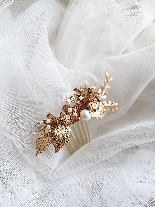 Petite Esme cherry blossom bridal hair comb