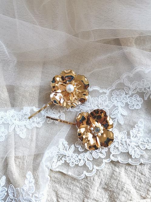 Harper floral bobby pin set