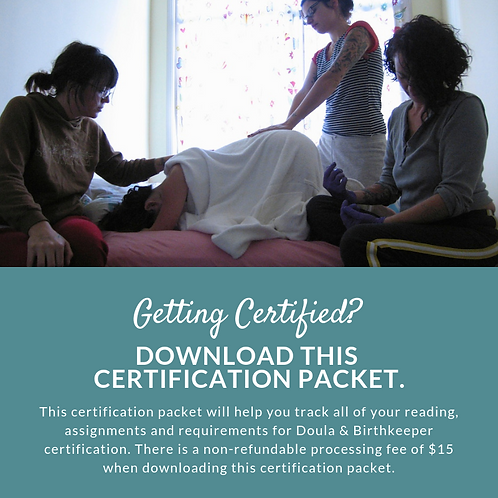 Doula Certification Packet