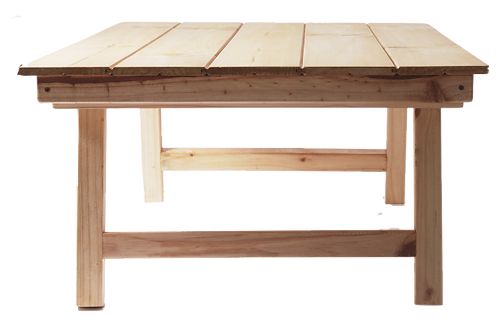 Low lying picnic table