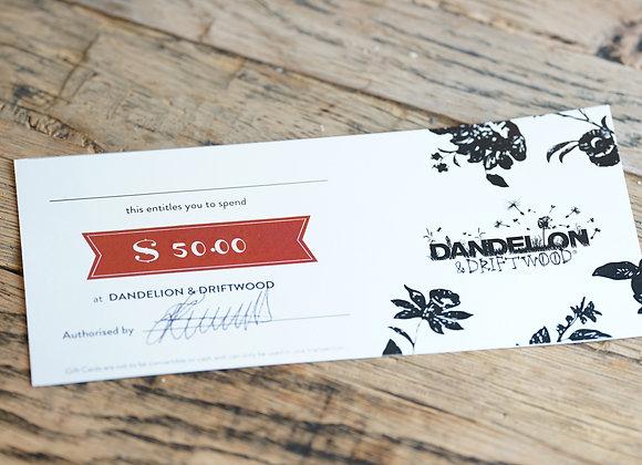 D&D Gift Voucher $50