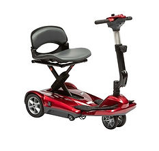 Drive DeVilbiss Folding 3 Wheel Scooter Red