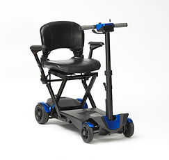 Drive DeVilbiss Flex 4 Wheel Folding Scooter Electric Blue