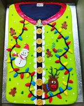 Ugly sweater cake #uglychristmassweater