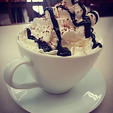 Hot Chocolate with Marshmallows and Cream