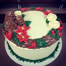 Winter wonderland themed cake #allbutter