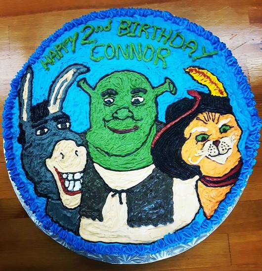 Shrek Cake #cake #dairyfree #shrek #100percentbuttercream #buttercream #coconutmilk #birthdaycake #sprinkles #birthday #celebrations #🎂 #hom