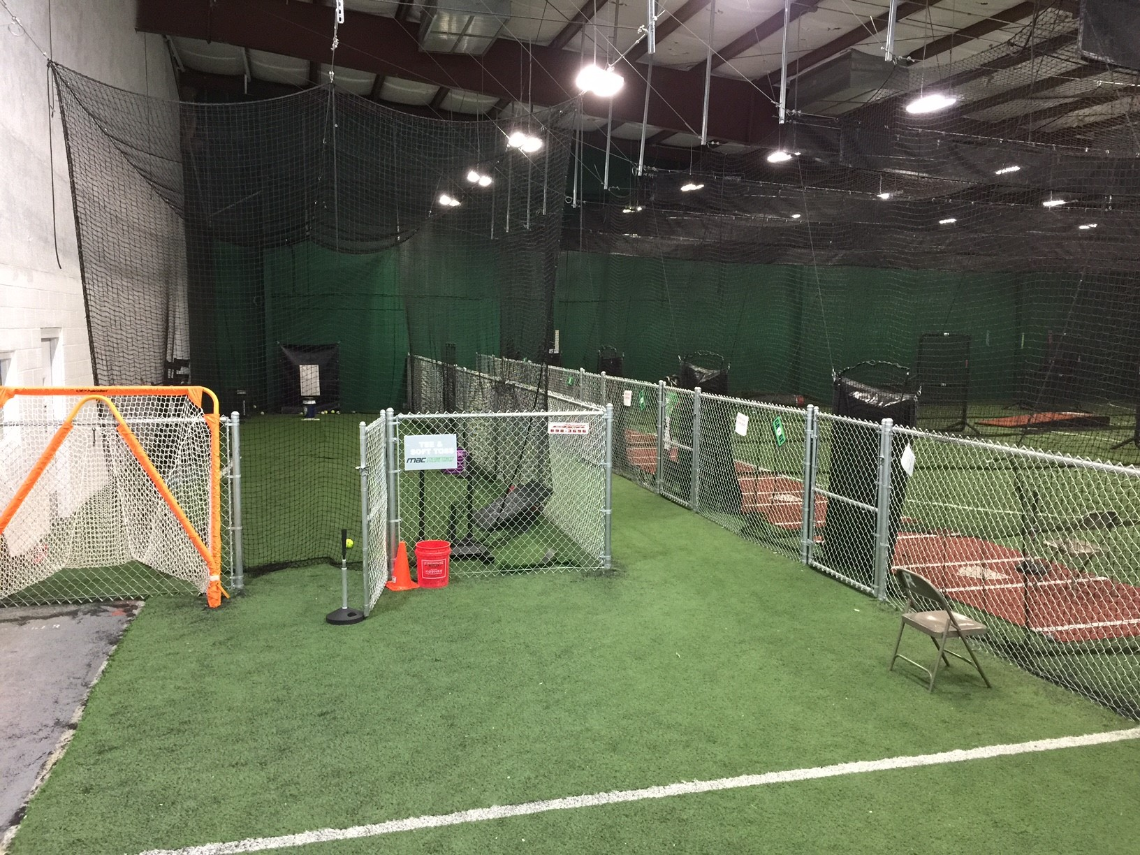 Baseball cages at McDermott Athletic