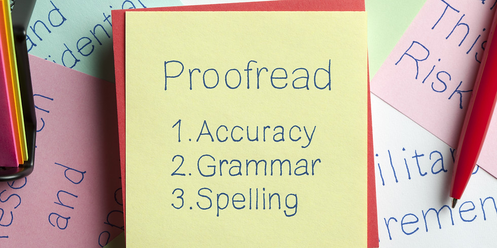 Effective Proofreading