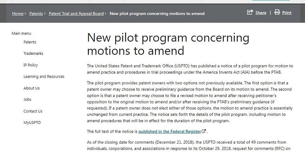 PTAB Practitioner's Series: Motions to Amend End-to-End