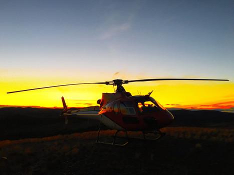 AS350B2 Sunset
