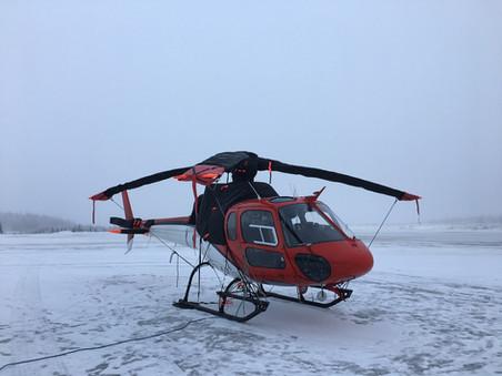 Winter work Alaska AS350 ROTAK