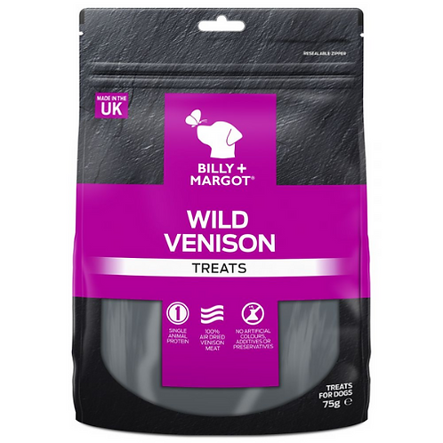 Billy & Margot Wild Venison Treats - 75g
