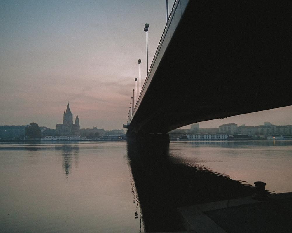 Bridge over the River Danube in Vienna Austria