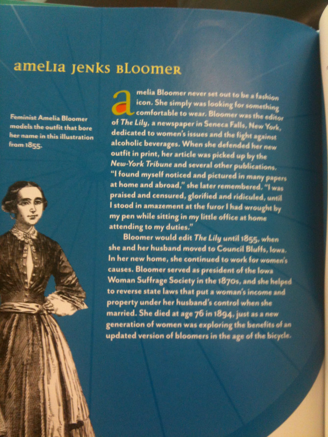 Women of Inspiration Day 9: Amelia Bloomer