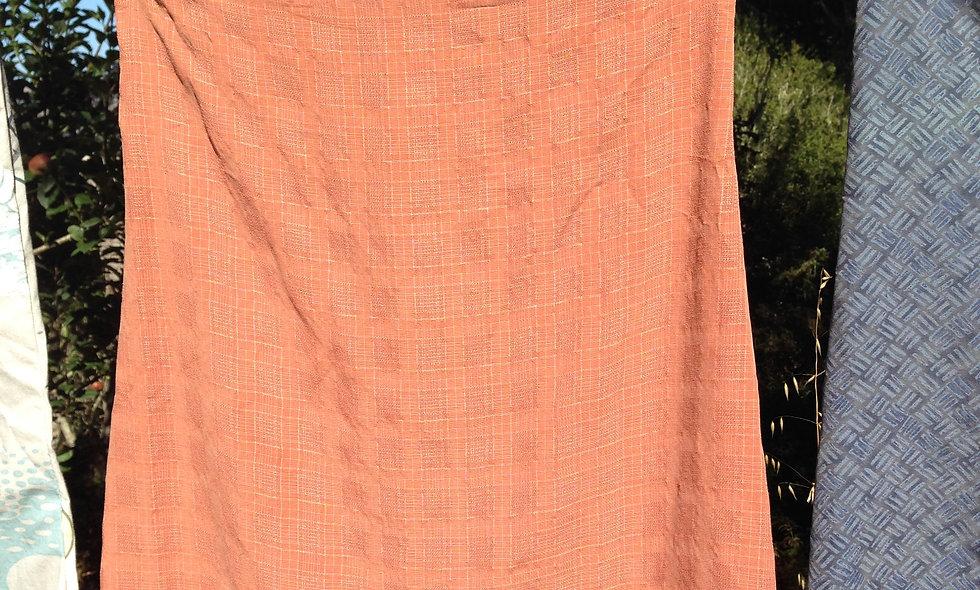 Orange Button Up Skirt