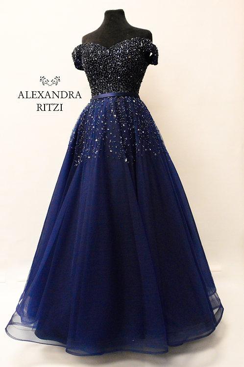 Lisabeth mørkeblå  ballkjole