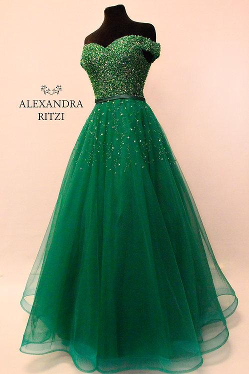 Lisabeth Emerald grønn  ballkjole