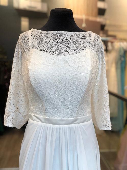 Brudekjole med ermer