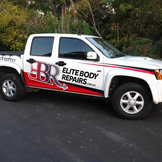 Elite Body Repairs Holden Ute Signage.jp