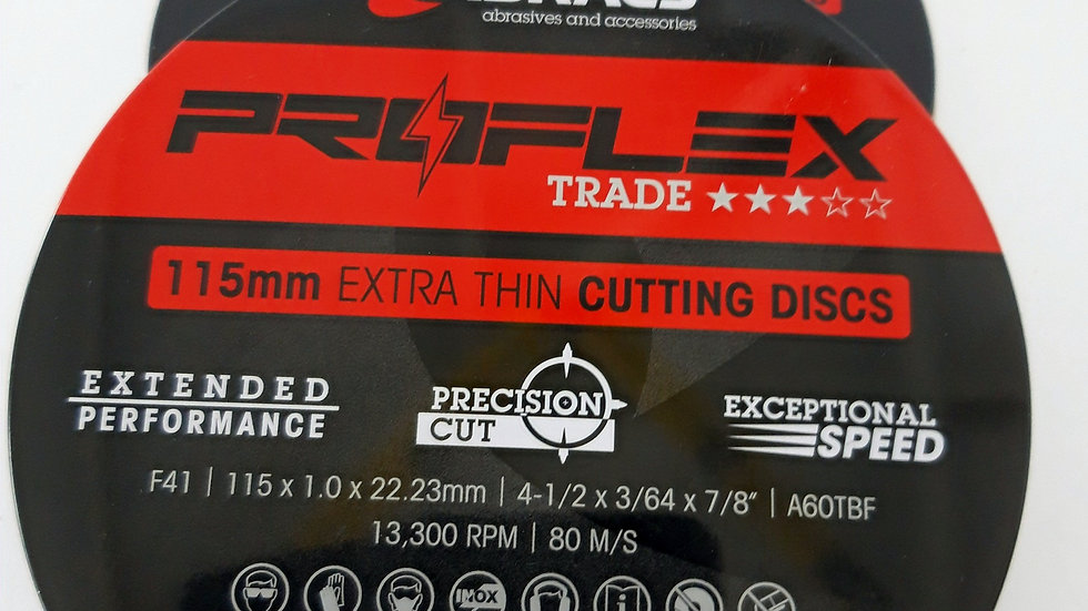 """4"""" Extra thin Cutting Disc Box of 10"""