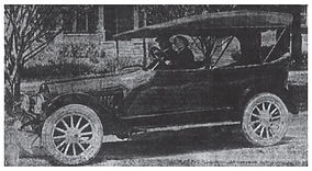 1916 Paterson Six with Suzanne & Louis Chevrolet