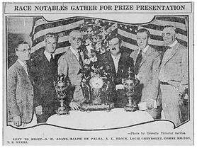 Louis Chevrolet at 1921 Indy 500 Banquet