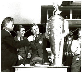 Arthur Chevrolet with Borg Warner Trophy