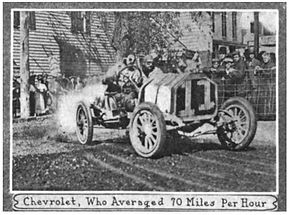 Louis Chevrolet enroute to victory at Riverhead