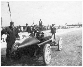 Bennett Hill and Marcel Treyvoux at the 1920 Indy 500