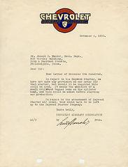 Louis Chevrolet Letter