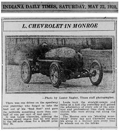 Louis Chevrolet in practice session at Indy