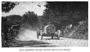 Louis Chevrolet wins 1909 Yorick Cup