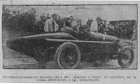 Louis Chevrolet is 2nd fastest qualifier at 1919 Indy 500