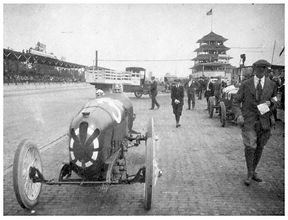 Louis Chevrolet and Thane Houser at the 1920 Indy 500