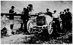 Louis Chevrolet at Brunot's Island 1905