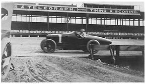 Louis Chevrolet in practice at Uniontown