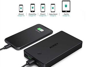 AUKEY Bateria Externa 20000mAh. La mejor batería portátil del 2018