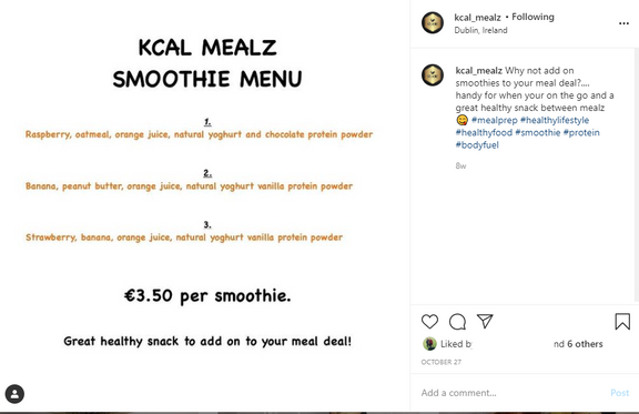 Smoothie launch post