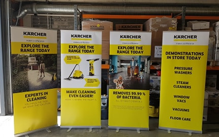 Karcher Pull Up Banners