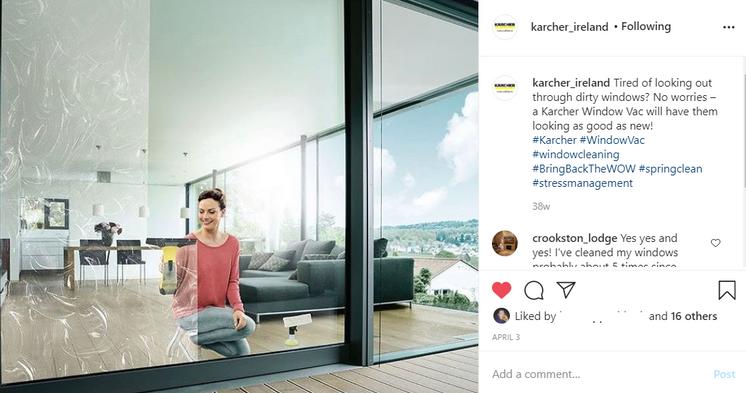Window Vac Post for Karcher Ireland