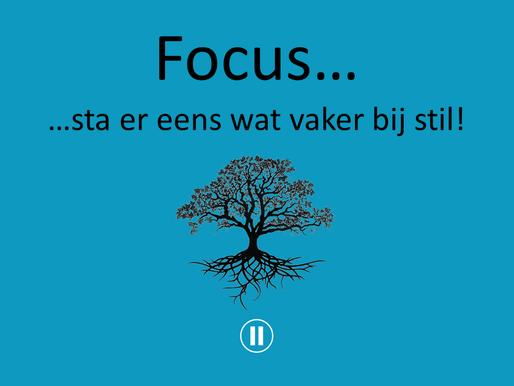 Verwonderwaardigen #31 - Focus