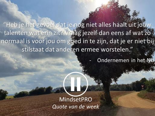Quote van de week #27 - Talent
