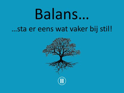 Verwonderwaardigen #30 - Balans