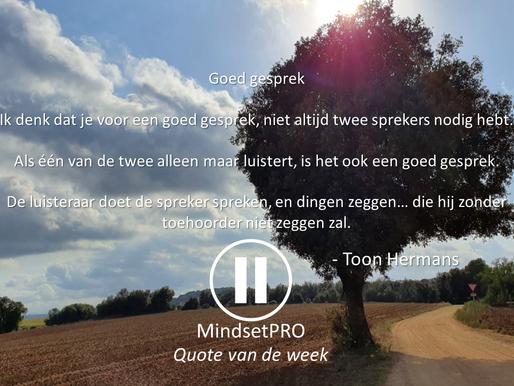 Quote van de week #11 - Goed gesprek met aandacht