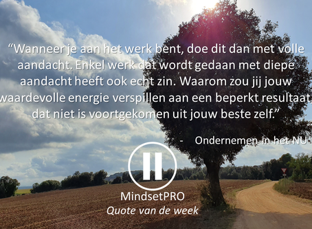 Quote van de week #31 - Focus