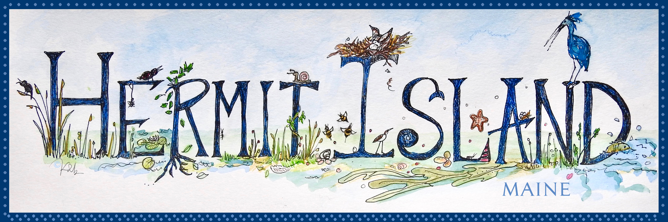 Hermit Island kdb Sticker