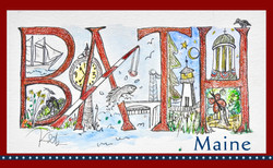 Bath Maine kdb sticker