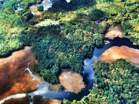 Kennebec River Estuary Aerial